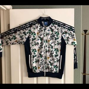 Adidas Men's Floral Track Jacket - Size Large